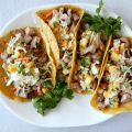 Grilled Pork Tacos with Tropical Slaw