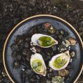 Fresh Oysters with Dill Vinaigrette and Pecorino