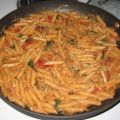 Creamy Spinach and Mushroom Penne Pasta