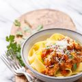 Pumpkin Bolognese with Pappardelle