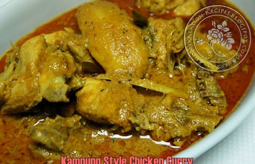 Recipe: Kampung Style Chicken Curry