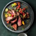 Flank Steak with Bloody Mary Tomato Salad