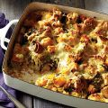 Wild Mushroom and Butternut Squash Bread Pudding