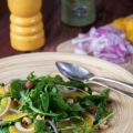 Spinach Salad with Apricot Vinaigrette