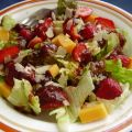Green Salad With Strawberry Balsamic Vinaigrette