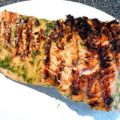 Grilled Salmon With Basil Oil