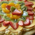 Cheesecake and Fruit Dessert Pizza
