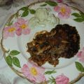 Salisbury Steak with Wine Sauce
